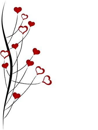 Abstrakte Herzen Gras - Vektor-Abbildung