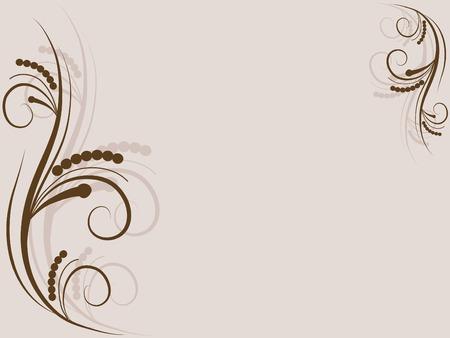 Beige floral background illustration Vector