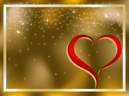 Abstract background with heart   illustration Vector