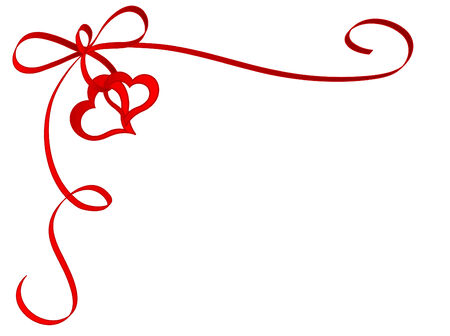 Ribbon with heart   illustration Vector
