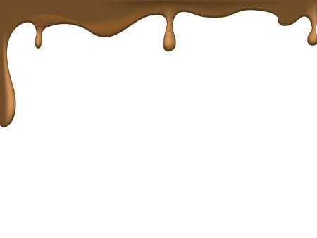 Flowing brown chocolate -  illustration