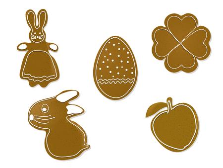 eastertide: Brown easter gingerbreads - illustration