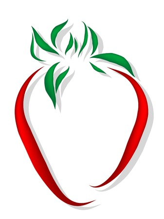 sweetness: Abstract strawberry icon
