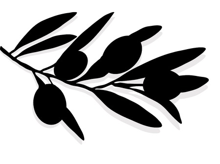 olive branch: Silhouette of the olive branch