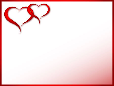 Red place card with two hearts Vector