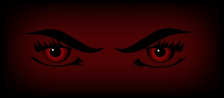 bloodstain: Red vampire eyes on the black and red background