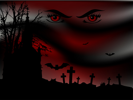 headstone: Scary bloody night on the graveyard