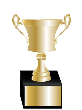 Classic golden trophy cup for the winner Illustration