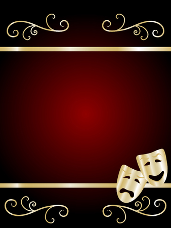 theatre: Comedy and Tragedy Theater Masken - Abbildung Illustration