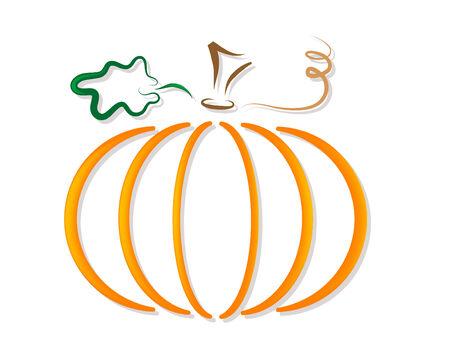 Abstract orange pumpkin - vector illustration Ilustração