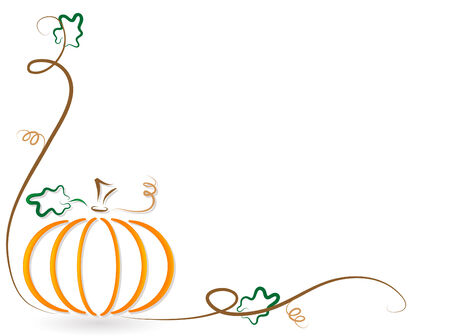 Abstract orange pumpkin - vector illustration