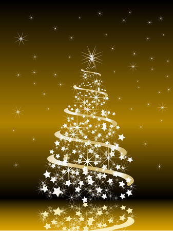glittery: Abstract christmas tree - vector illustration
