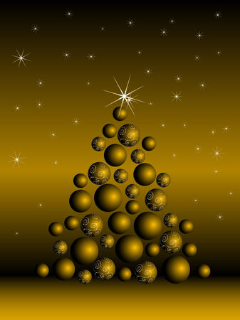 Abstract christmas tree - vector illustration