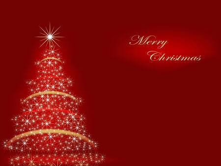 red glittery: Albero di Natale astratta  Vettoriali