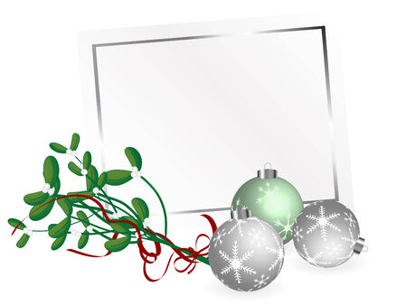 Christmas card with mistletoe Vector