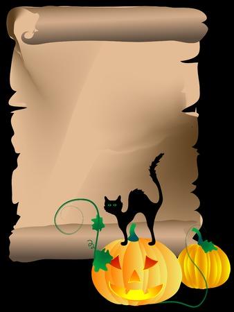 illustration of halloween pumpkins Vector
