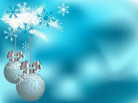Sfondo Natale con le palle - illustrazione vettoriale