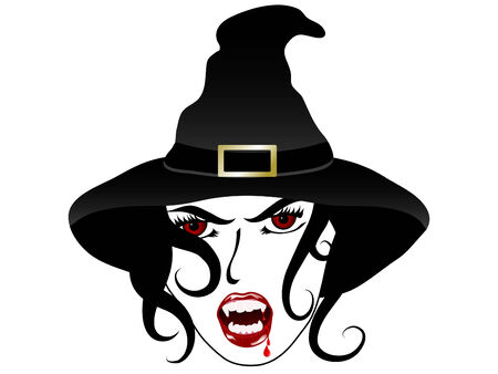 Face of the sexy vampire witch Vector