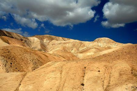 far off: Sand dunes not far off  Dead Sea, Israel Stock Photo