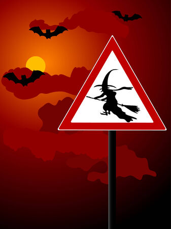 Beware of witches - vector illustration Vector