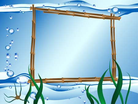Frame for your text against the seascape Vector