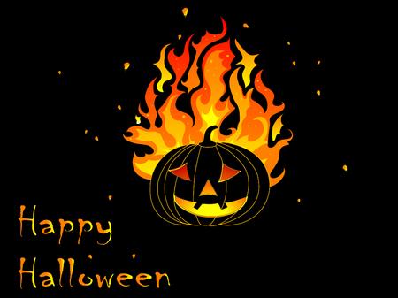 Abstract background with Halloween pumpkin Vector