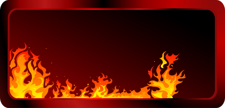 Fire and flames vector background Stock Vector - 7950526