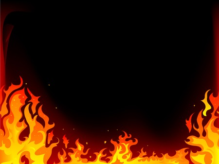 hell fire: Fire and flames vector background