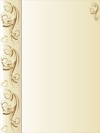 gold corner: Floral abstract background - vector illustration