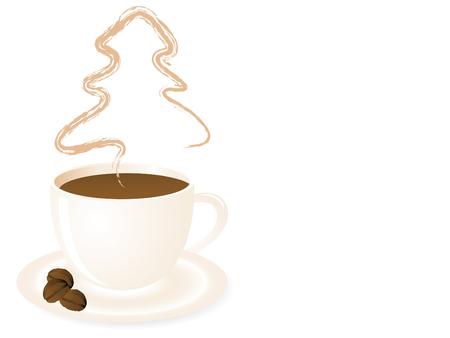 Abstract kerst boom in koffiekopje