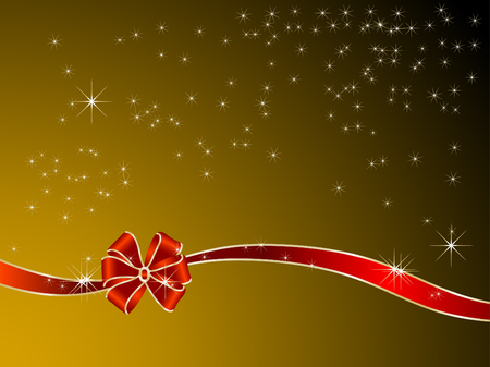 Red ribbon and bow - vector illustration Zdjęcie Seryjne - 8077063