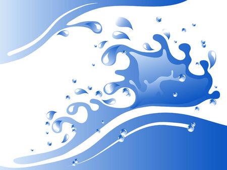 Blue water splash - vector illustration Stock Vector - 8077073