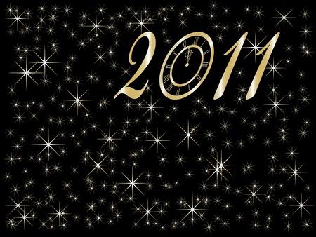 midnight hour: New Year background - illustration