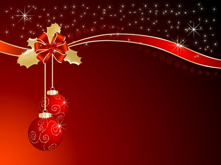 Abstract red and gold christmas background Vector