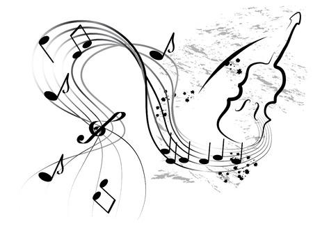 chiave di violino: Musica astratto sfondo - illustrazione