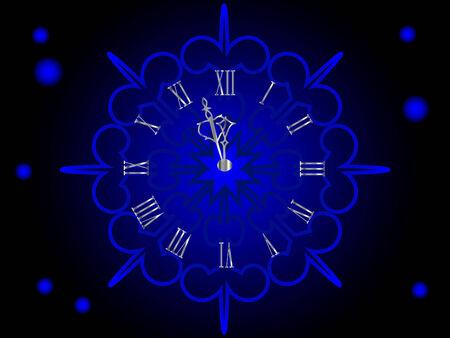 lightening: Plata de a�o nuevo de reloj, en copo de nieve
