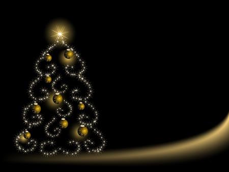 Albero di Natale astratto con le stelle  Archivio Fotografico - 8212315