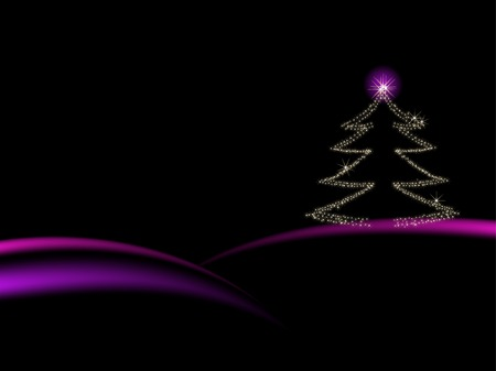 christmas backgrounds: Abstract christmas tree with stars Illustration