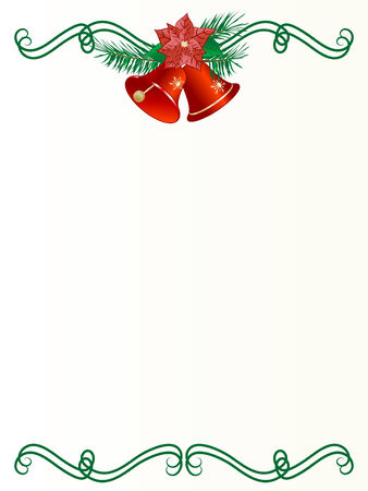 Label with the christmas garland Vector