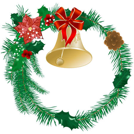 Christmas holly wreath Stock Vector - 8284699