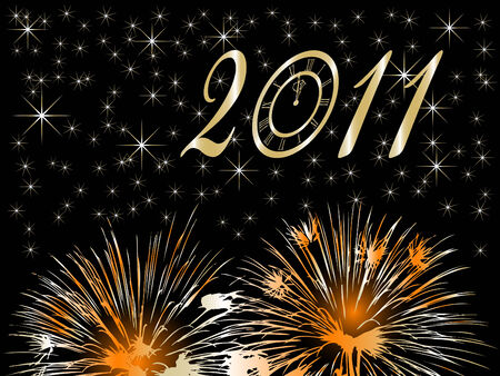 New Year background Stock Vector - 8284712