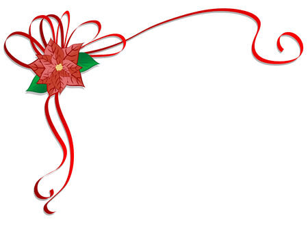 Christmas design with red flower Vector