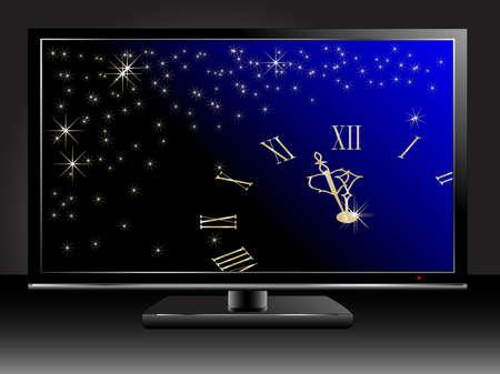 in midnight: Midnight clock in lcd tv