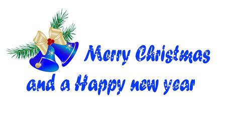 adventskranz: Christmas background with zwei Glocken