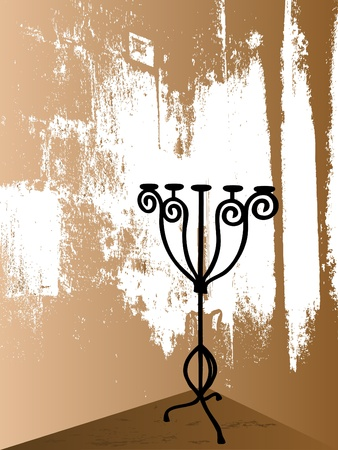 candlestand: Candlestick on the grunge background
