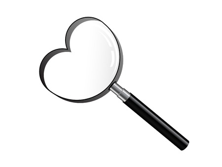 Magnifying glass over white background Stock Vector - 8616075