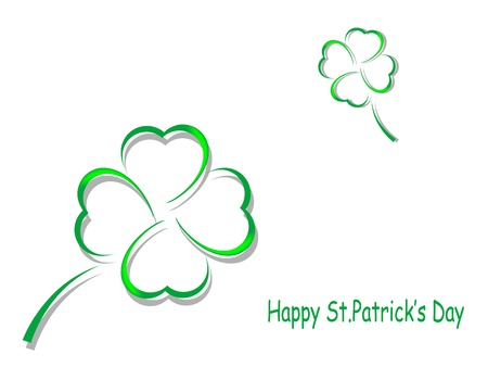 four fourleaf: St. Patricks day background with clovers Illustration