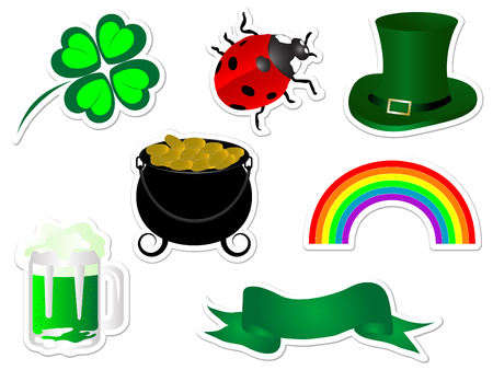 Collection of St.Patrick's day stickers Stock Vector - 8838717