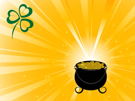 Abstract background with St.Patricks cauldron Vector
