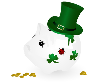 Piggy bank with St.Patrick's hat Stock Vector - 8838721